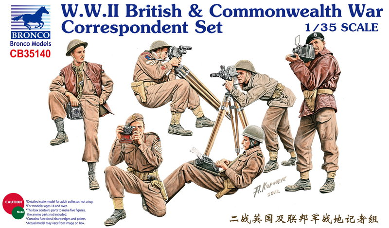 Bronco-35140-1-35-W.W.II-British-Commonwealth-War-Correspondent-Set